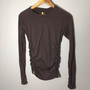 Lole Purple Ruched Running Tee
